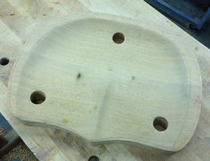 Areas to be Shaped After Glue-Up