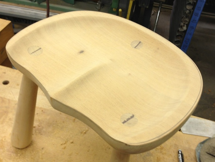 Seat Bowl Finished, Edge Details Remain Undone