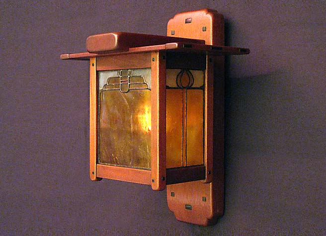 Blacker House Sconce, Side View