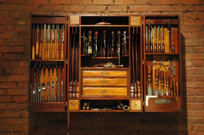 Fancy Tool Cabinet c1900