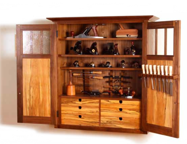wood tool cabinet plans
