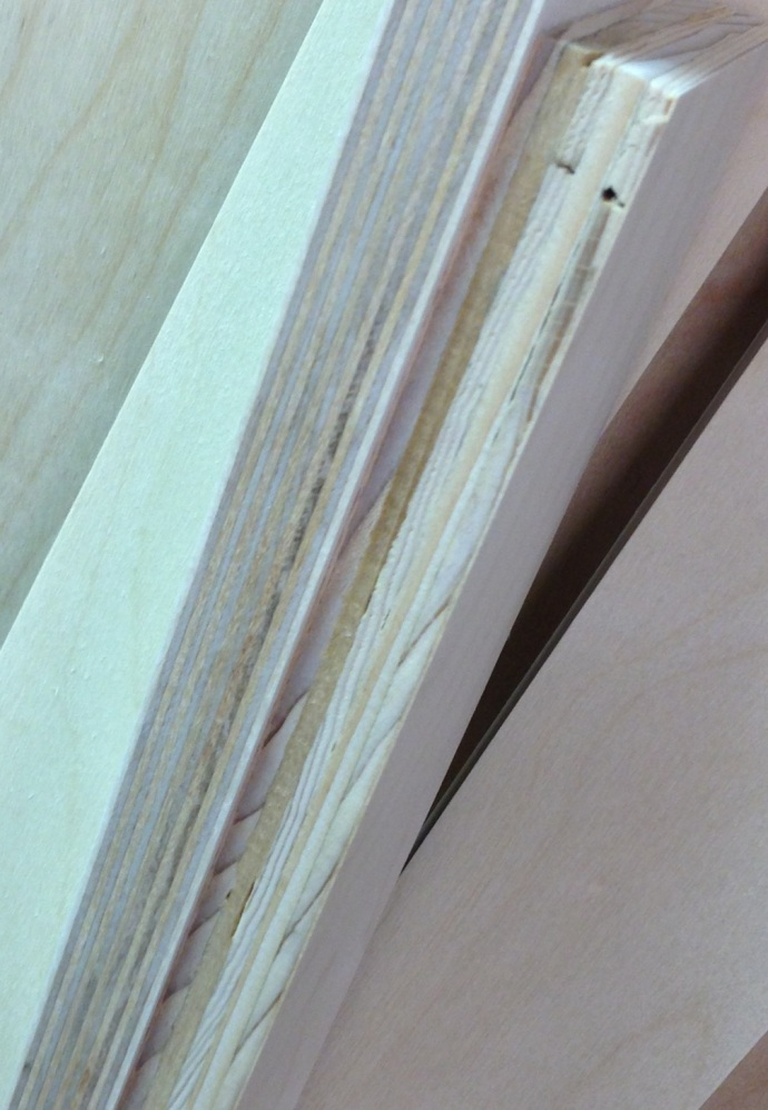 Comparison of Baltic Birch ply (left) to Shop Grade (right)
