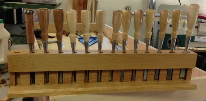 Freestanding Chisel Rack