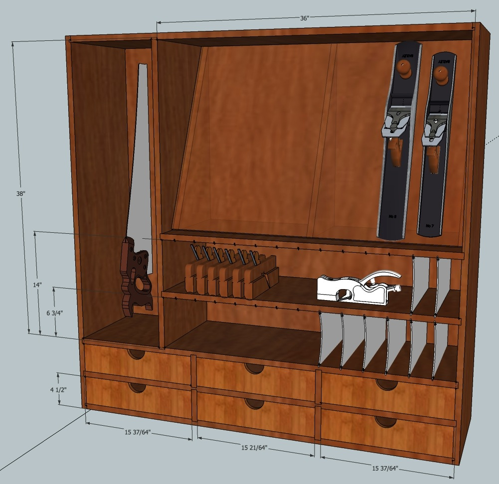 Hand tool cabinet mcglynn on making - Wood cabinet design software ...