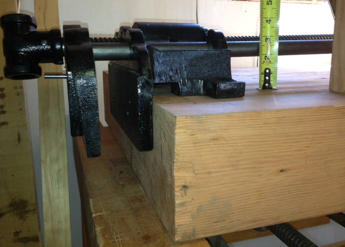 How deep to recess the vise?