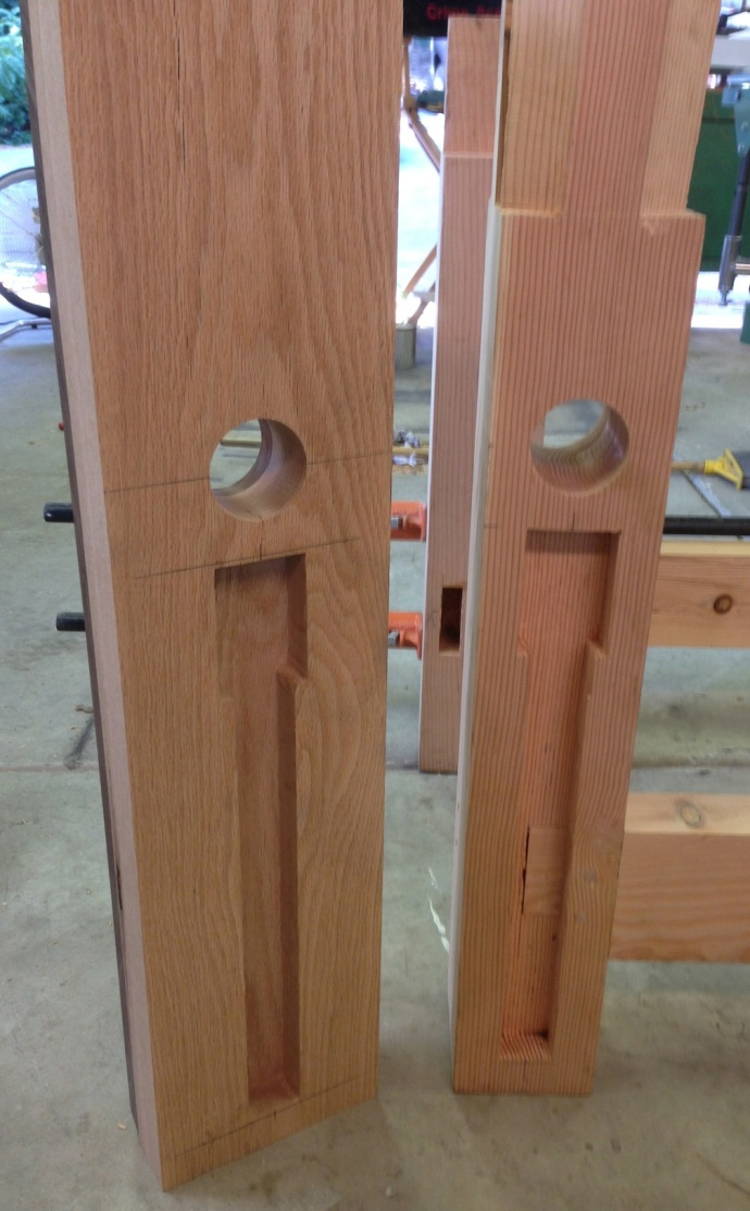 Side-by side, bench leg and leg vise chop
