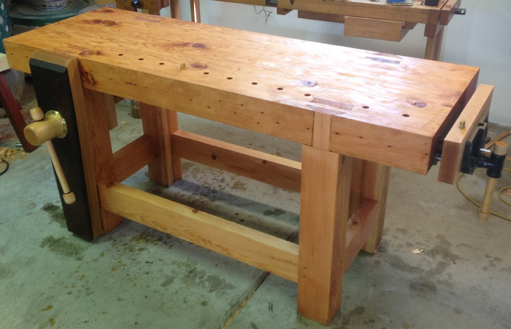Finished workbench with a coat of 3-2-1 finish