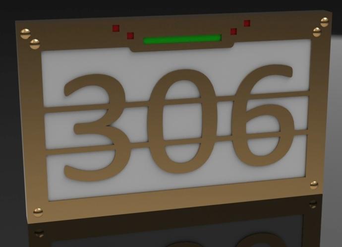 Design for lighted street number