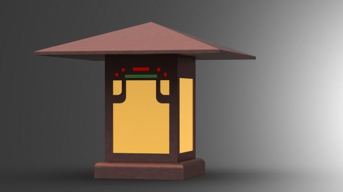 Gate Lamp Mockup