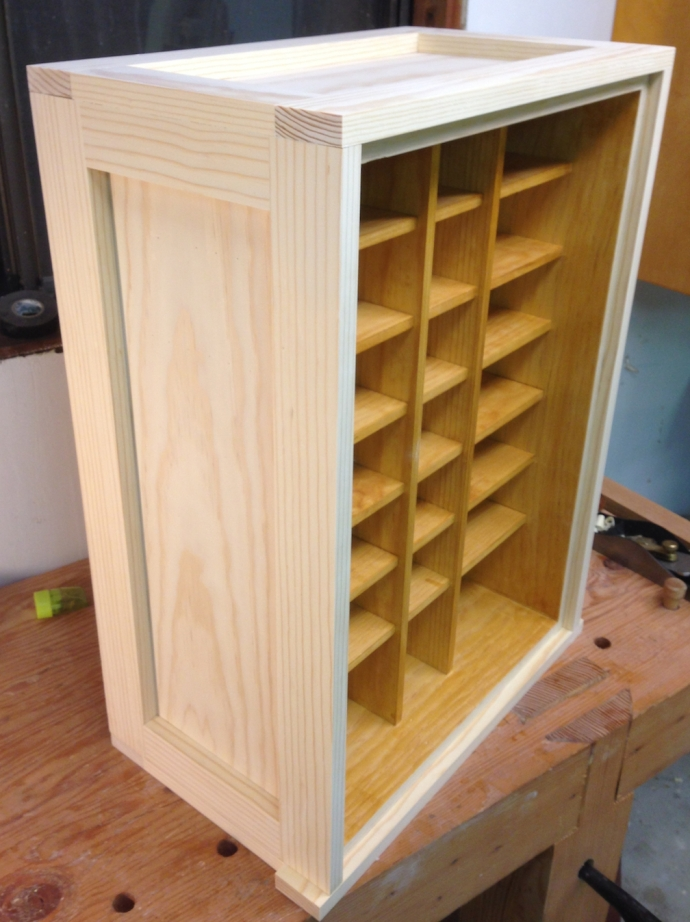 Completed case for the nail storage cabinet
