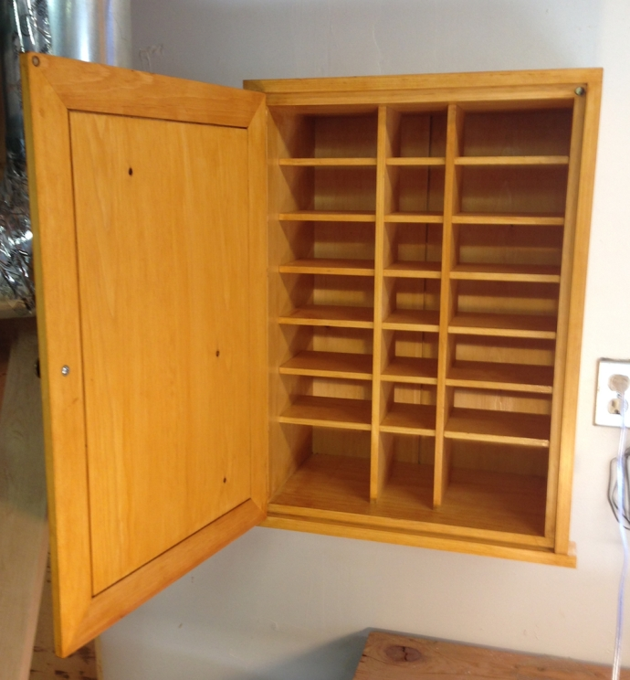 The inside, less the 21 drawers I still have to make...