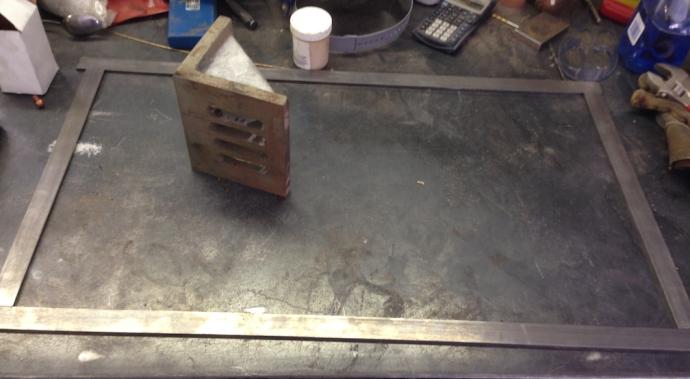 Steel bar ready for welding