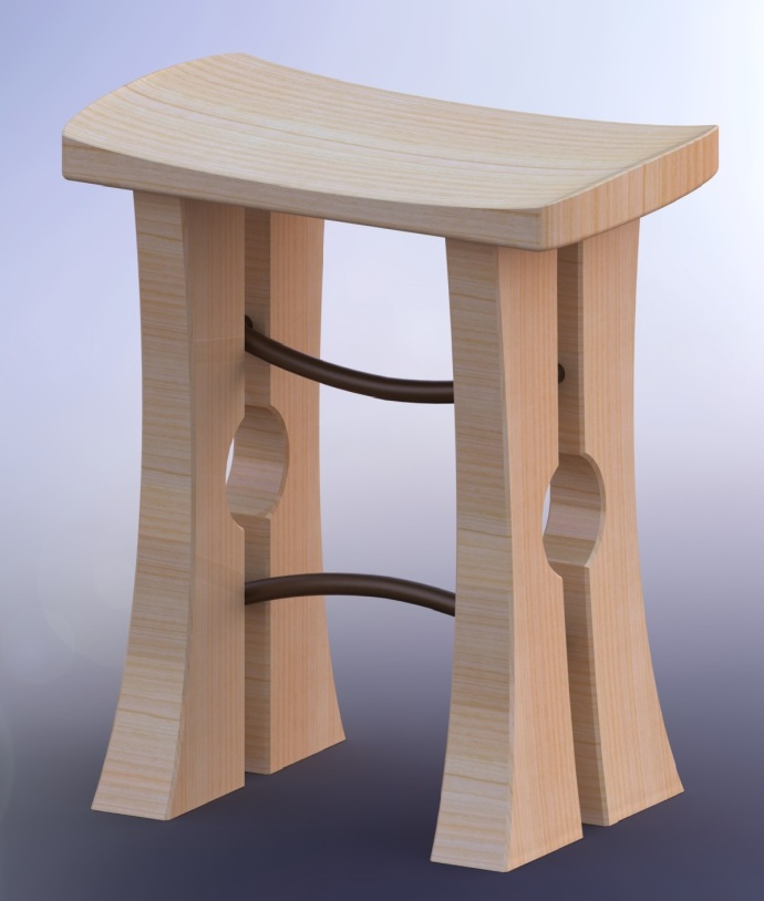 Rough Design for my Shop Stool