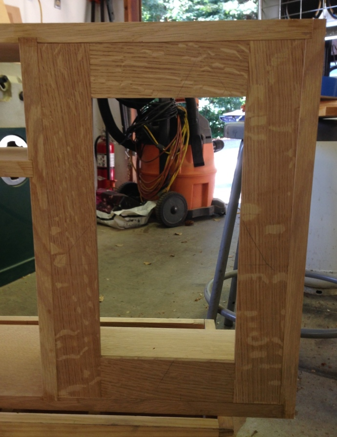 Door fit to the opening - I'll remove more material once I'm sure what hardware I'm using.