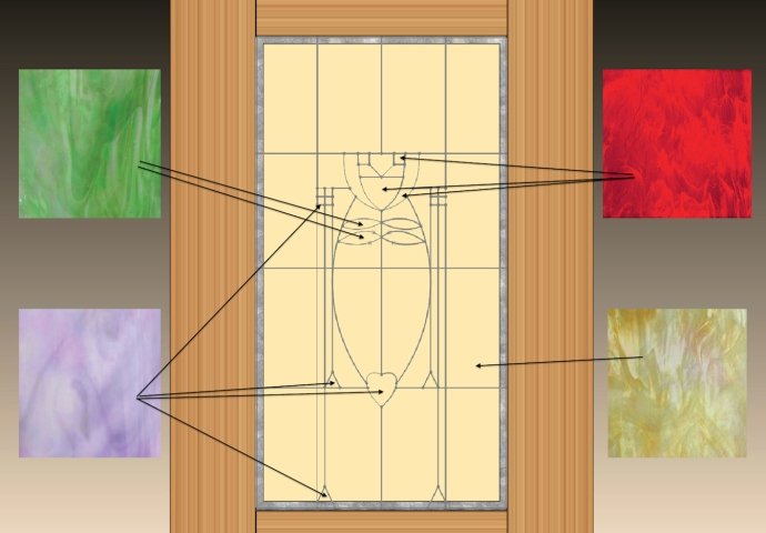 Glass selections for the door