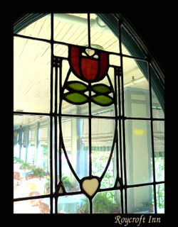 Stained Glass Panel - Dard Hunter Tulip