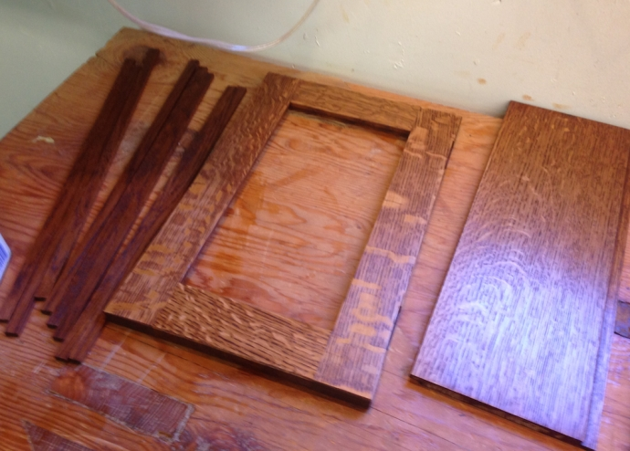 Gel stain and a coat of linseed oil
