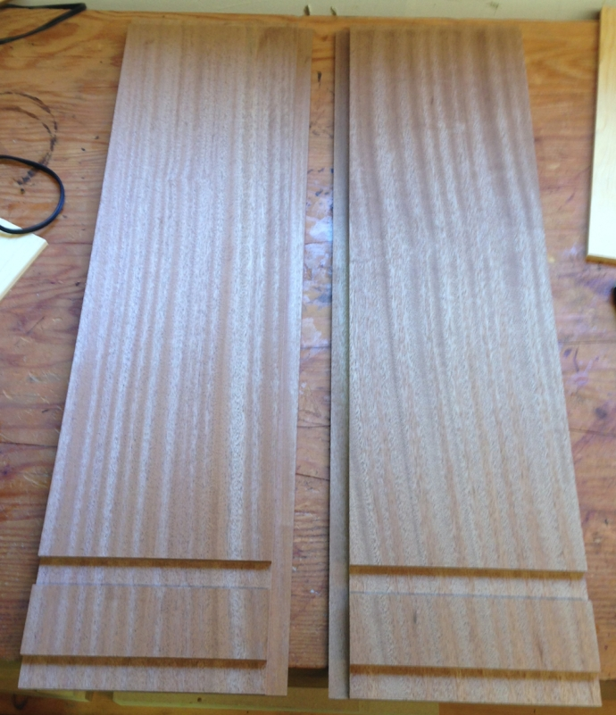 Sides with dados and rabbets