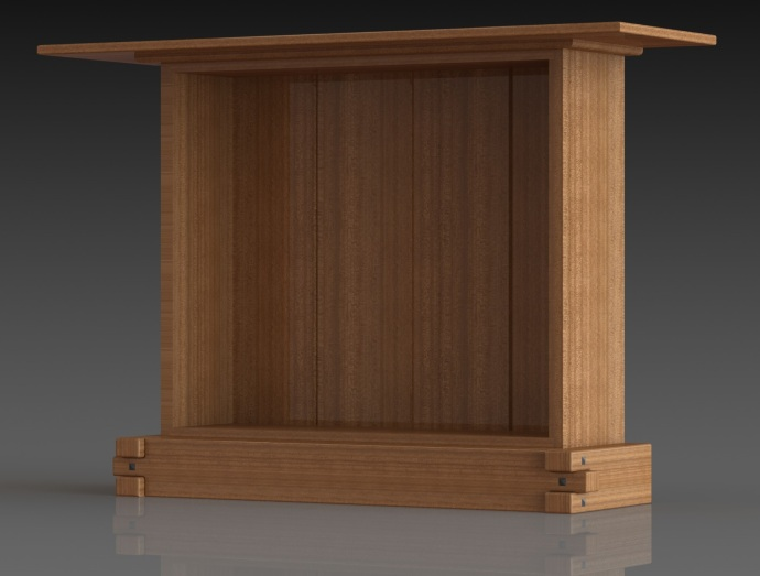 Thorsen house cabinet case design