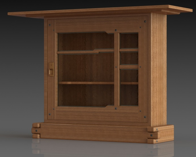 Latest CAD model of the cabinet