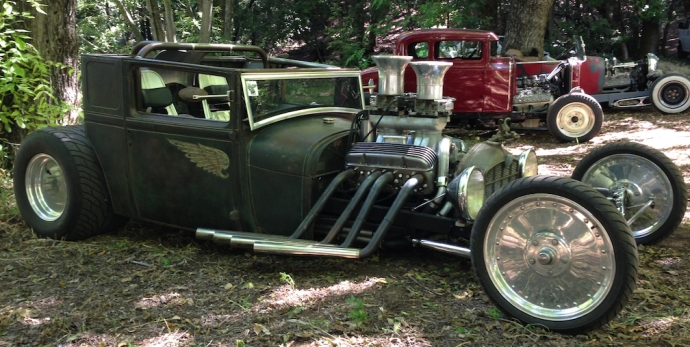 Of course a metal meet wouldn't be complete without a bunch of home built hot rods.