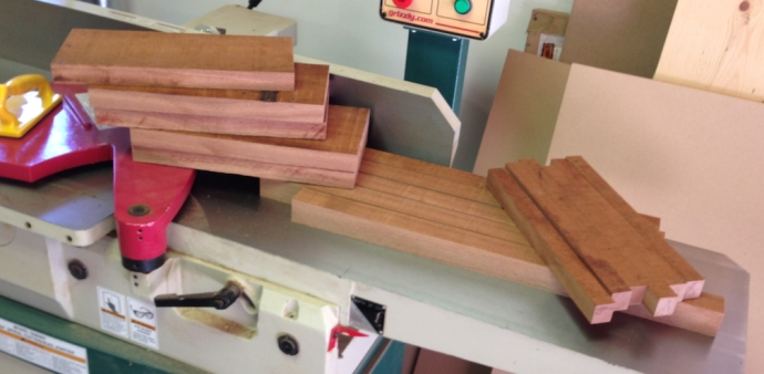 Wood for the legs, stretchers and skirts rough cut.