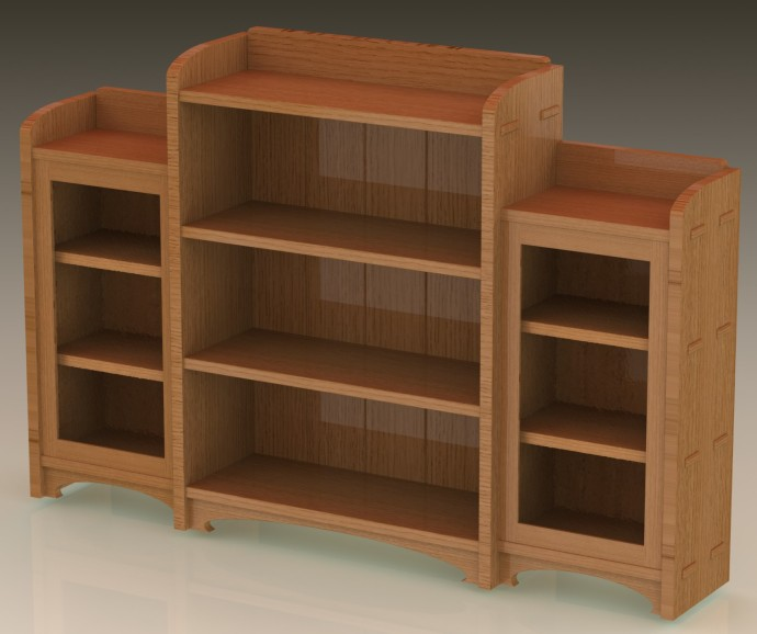 Version 2 of the Bookcase, with improved joinery and some small refinements