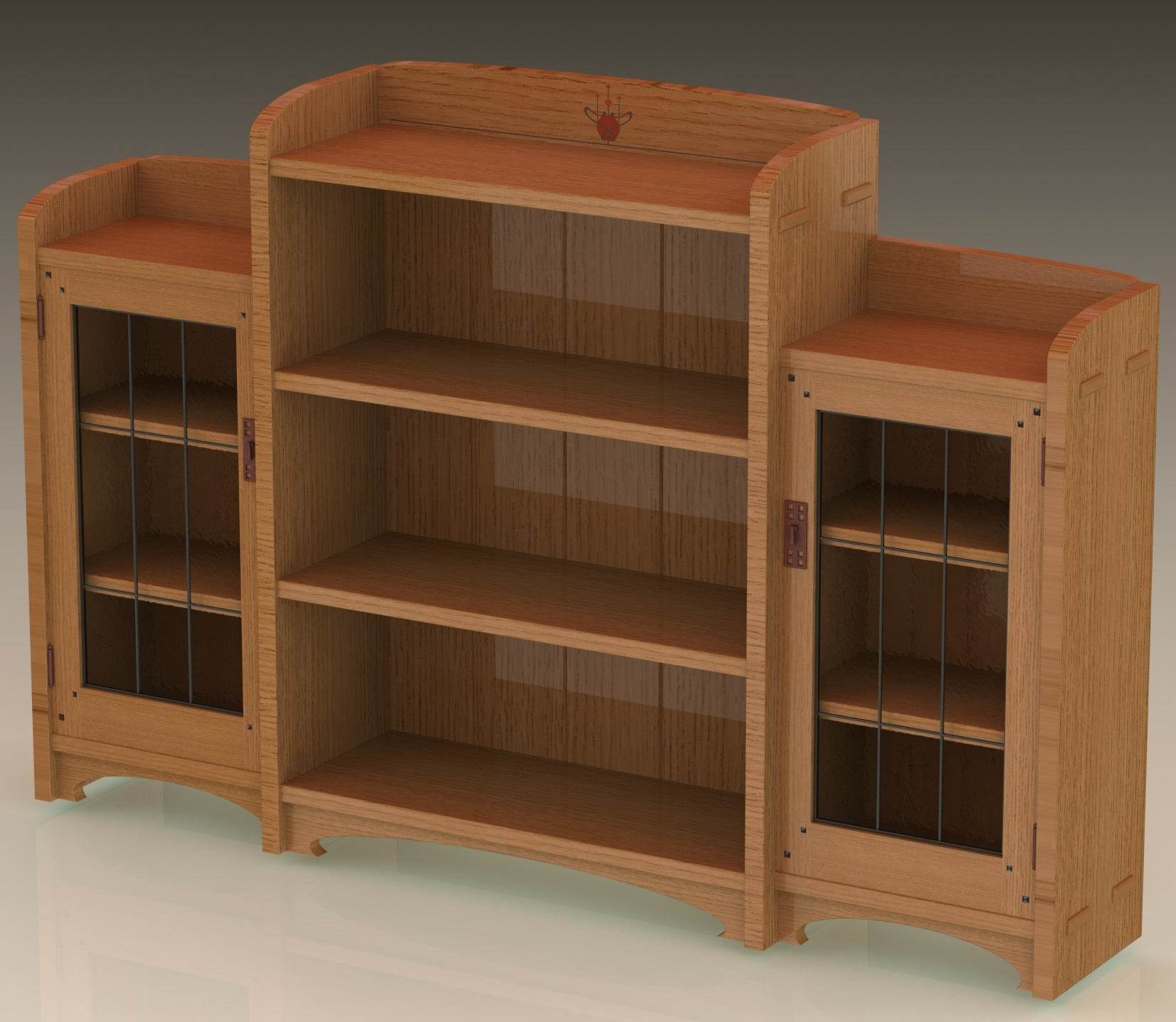 arts crafts bookcase another option mcglynn on making. Black Bedroom Furniture Sets. Home Design Ideas