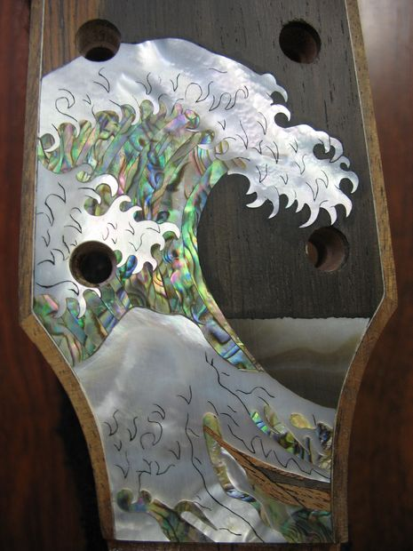 "Guitar head inlaid by ""Jimmi"""