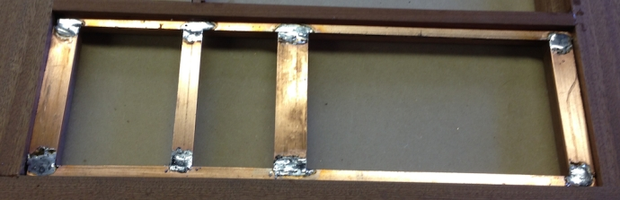 Side frame soldered