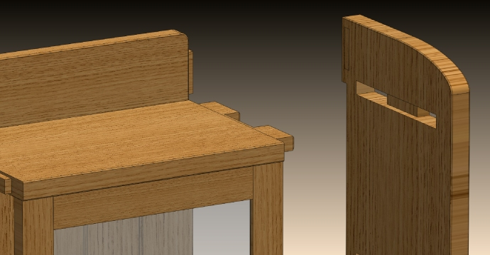 Twin through tenons with a stub tenon and shallow dado