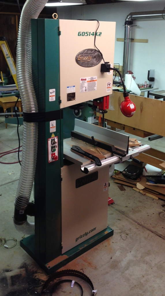 "New Grizzly 19"" bandsaw"