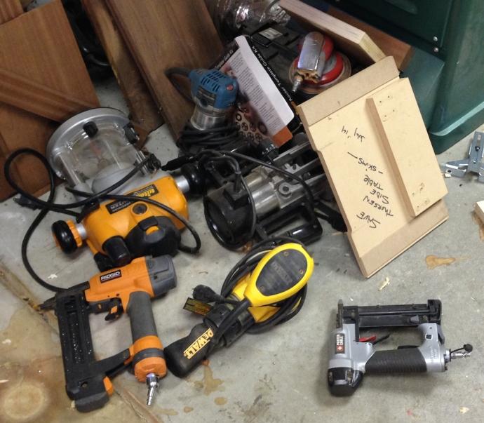 Custom concrete-lined tool storage