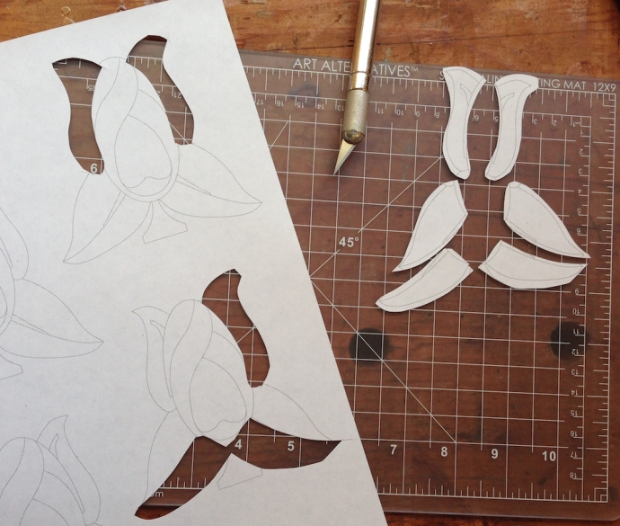 Cut up several patterns to get individual patterns for each piece