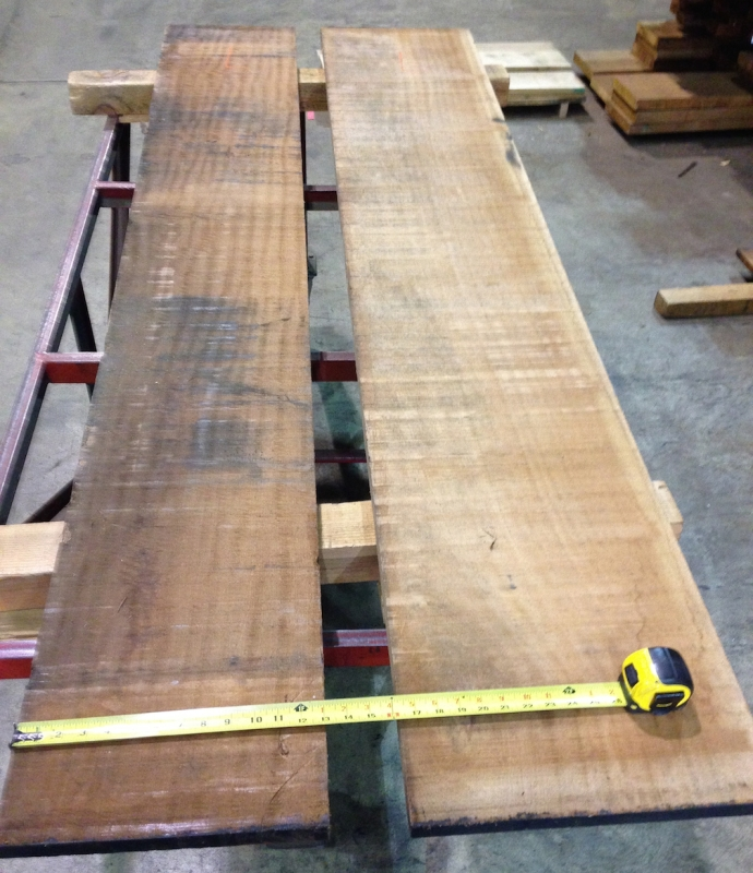 "Wide Sapele - the one on the left was 13"" I think, the one on the right was over 15"""