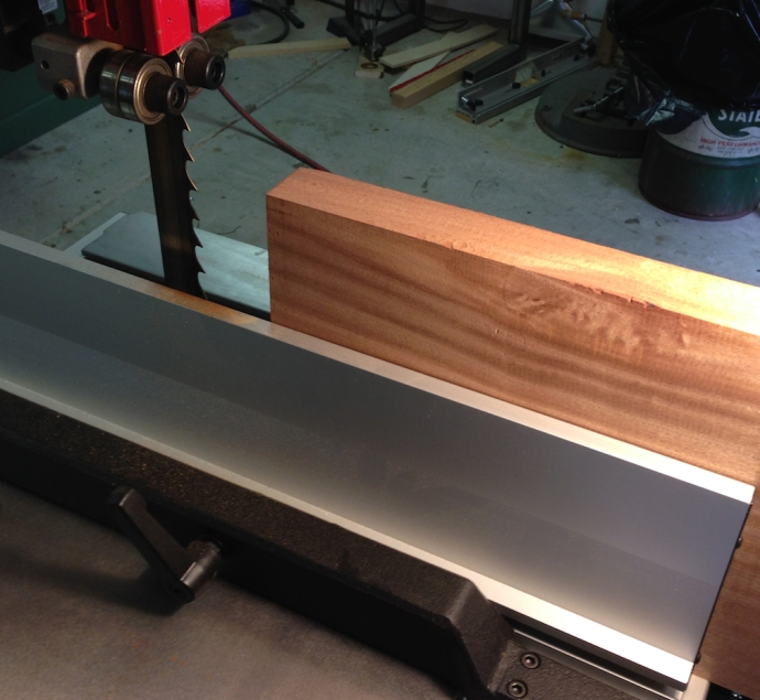 """Then I resawed it into two pieces about 5/8"""" thick.  These I jointed and planed flat, thicknessing then to 1/2"""" exactly."""