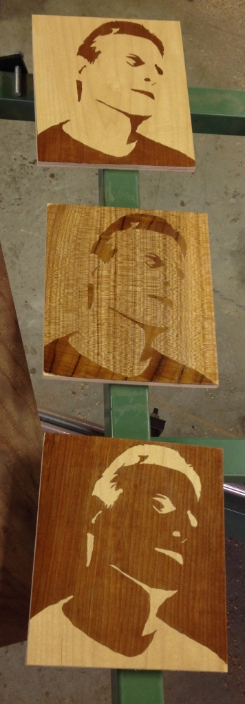 Self-portraits with a coat of linseed oil