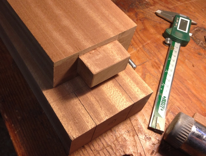 One tenon done, two to go.