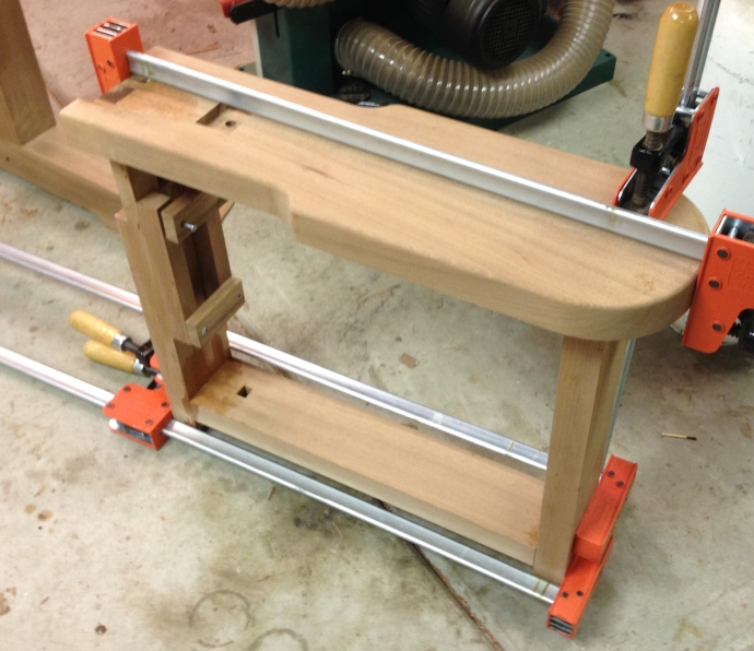 Seat assembly glue up