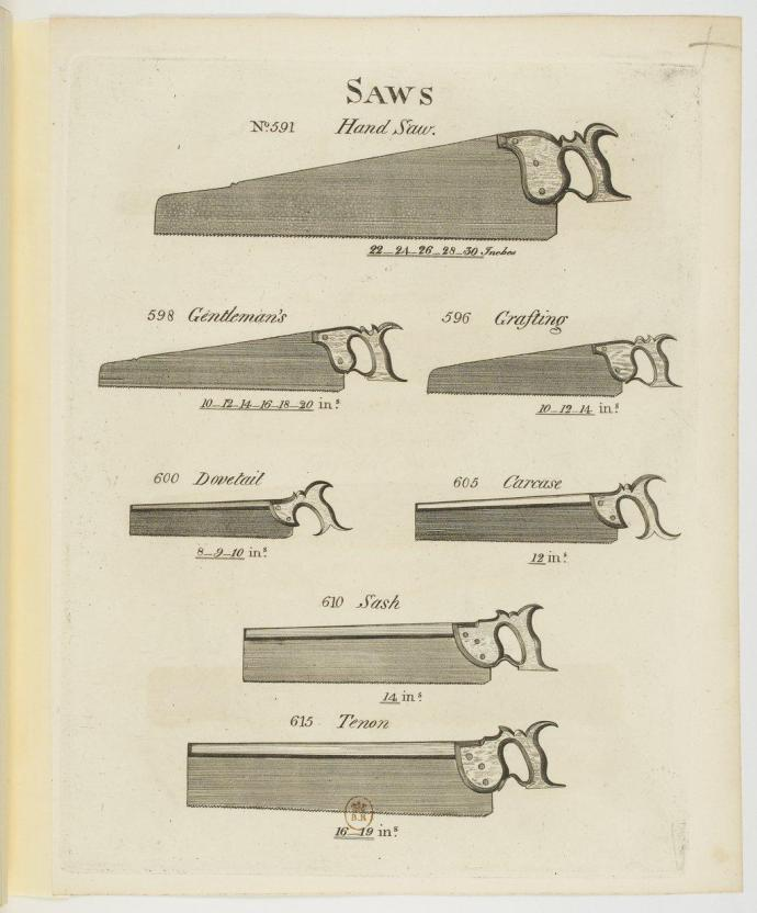 Several saws from Smith's Key
