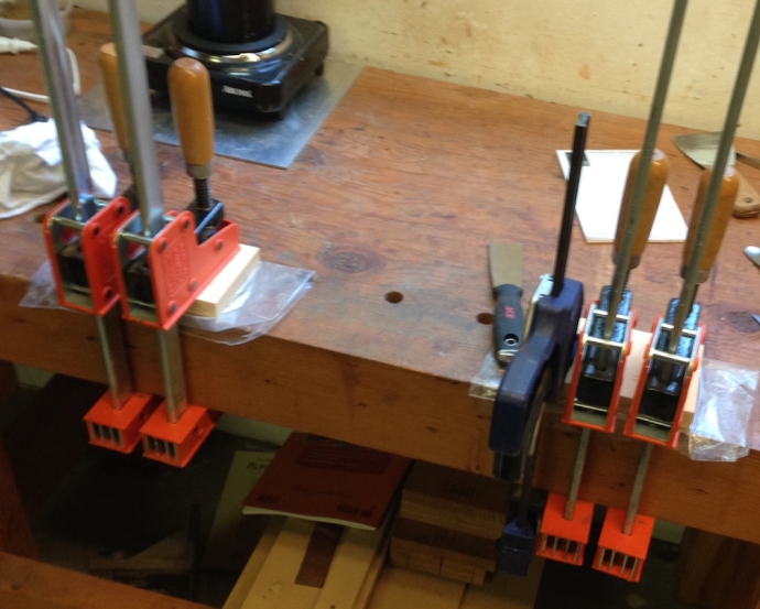 Final glue up to the substrate