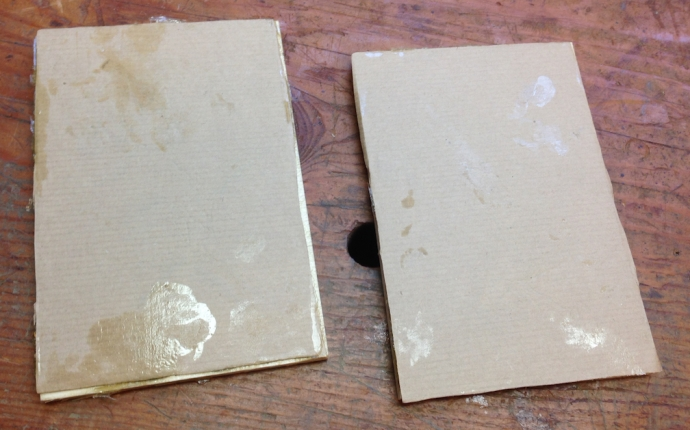 Unclamped, the image is still covered with Kraft paper