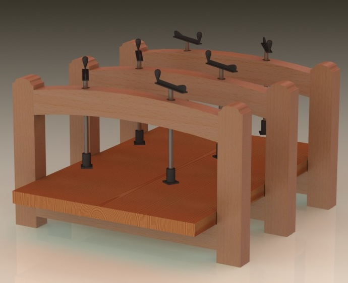 CAD model for a Marquetry Press
