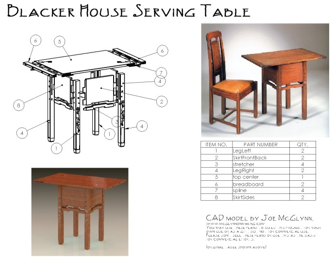 Blacker House Serving Table