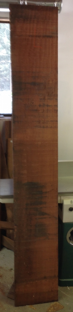 """12.5"""" wide 4/4 QS Sapele board I'm using for the skirts and stretchers."""
