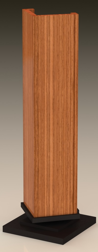 CAD rendering of the bedside lamp from Falling Water