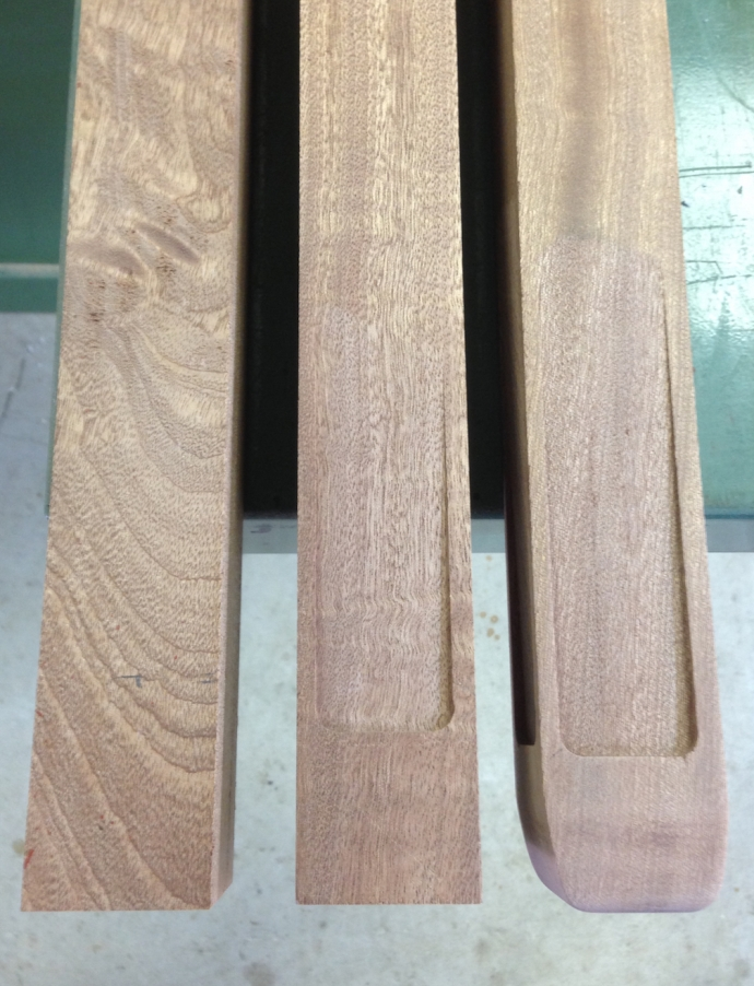 Leg indents & shaping of the bottom